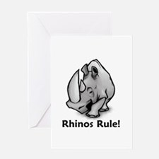 Rhinos Rule! Greeting Card