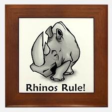 Rhinos Rule! Framed Tile