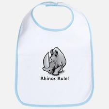 Rhinos Rule! Bib