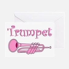 Pink Trumpet Greeting Card