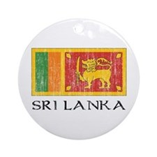 Sri Lanka Flag Ornament (Round)