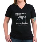 Responsible Owner Shirt Women's V-Neck Dark T-Shir