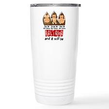 See Speak Hear No Heart Disease Travel Mug