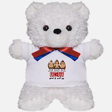 See Speak Hear No Heart Disease Teddy Bear