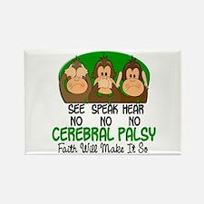 See Speak Hear No Cerebral Palsy 1 Rectangle Magne