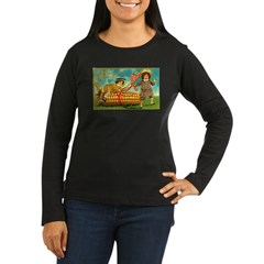Kids Thanksgiving Women's Long Sleeve Dark T-Shirt