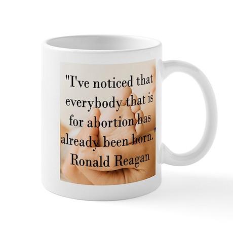Reagan on Abortion Mug