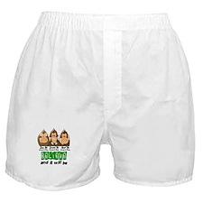 See Speak Hear No Cerebral Palsy 3 Boxer Shorts