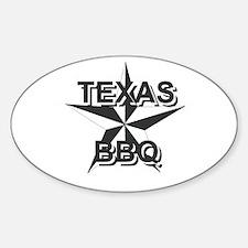 Texas BBQ Oval Sticker (10 pk)