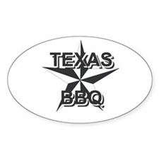 Texas BBQ Oval Decal