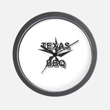Texas BBQ Wall Clock