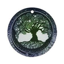 Tree of Life Mandala Ornament (Round)