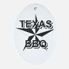 Texas BBQ Oval Ornament