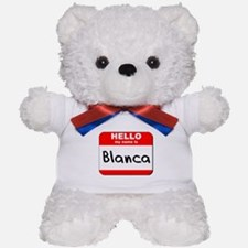 Hello my name is Blanca Teddy Bear