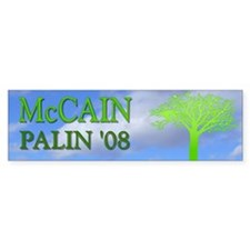 McCain Palin '08 Green Bumper Bumper Sticker