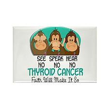 See Speak Hear No Thyroid Cancer 1 Rectangle Magne