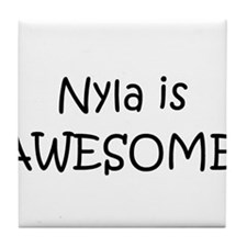 Cute Nyla Tile Coaster