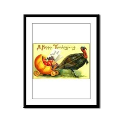 Thanksgiving Cornucopia Framed Panel Print