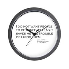 Cute Jane austin Wall Clock