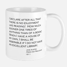 3-Jane Austen Reading Library Mugs