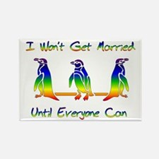 Same Sex Marriage Penguins Rectangle Magnet