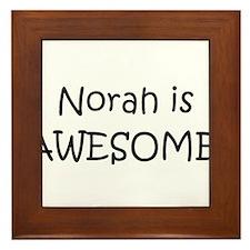 Unique Norah Framed Tile
