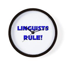 Linguists Rule! Wall Clock