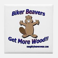 Biker Beavers Tile Coaster