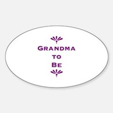 Grandma To Be Oval Decal
