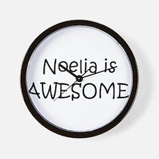 Funny Noelia Wall Clock