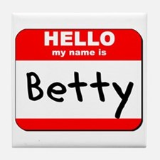 Hello my name is Betty Tile Coaster