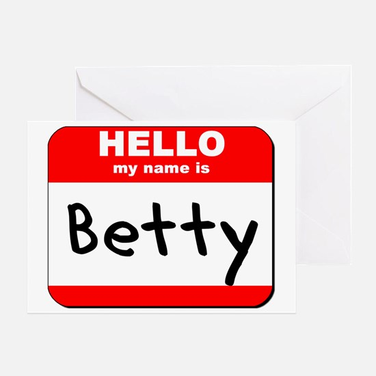 Hello my name is Betty Greeting Card