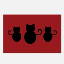 Cat Signal Silhouette Postcards (Package of 8)