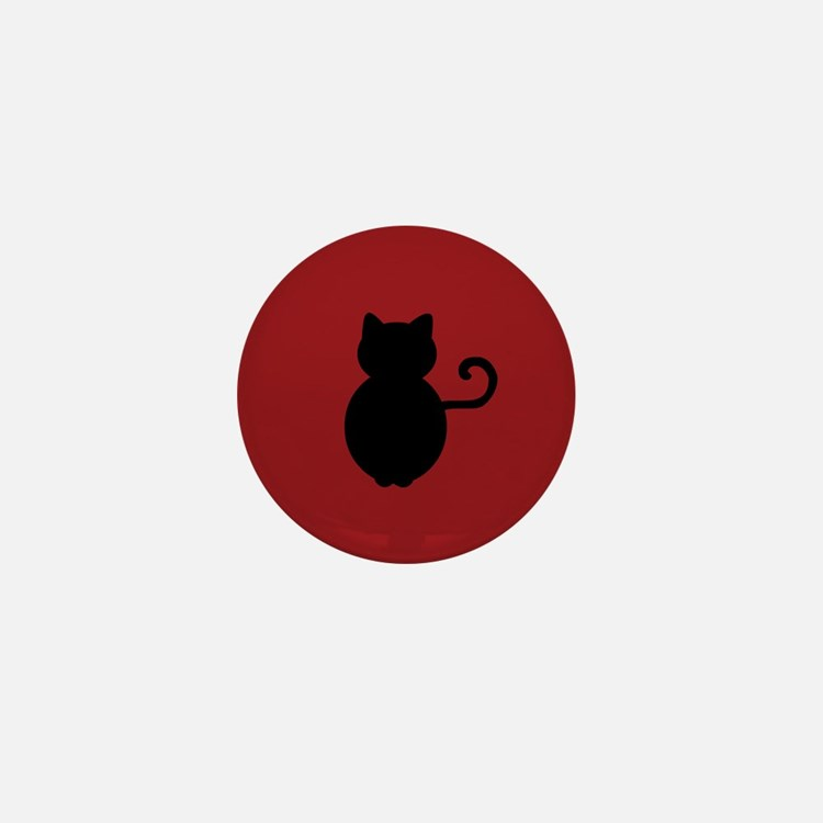 Cat Signal Silhouette Mini Button