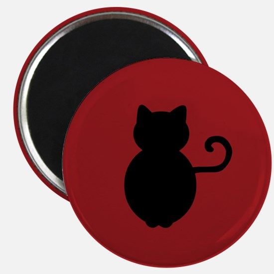 Cat Signal Silhouette Magnet