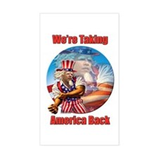 Fighting Uncle Sam Rectangle Decal