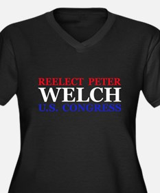 Reelect Welch Women's Plus Size V-Neck Dark T-Shir