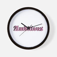 """""""Ambitious"""" Wall Clock"""