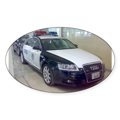 Audi Police Car Oval Sticker