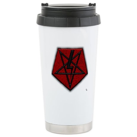 LaVey Style Pentagram Stainless Steel Travel Mug