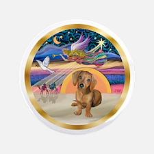 """XmasStar/Dachshund #13 3.5"""" Button"""