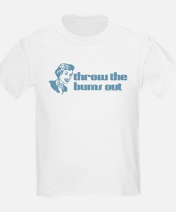 Throw the bums out. Kids T-Shirt