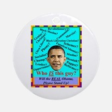 """""""Who Is Obama?"""" Ornament (Round)"""