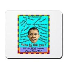 """Who Is Obama?"" Mousepad"