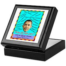 """Who Is Obama?"" Keepsake Box"