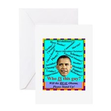 """""""Who Is Obama?"""" Greeting Card"""