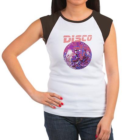 Pink Disco Ball Women's Cap Sleeve T-Shirt