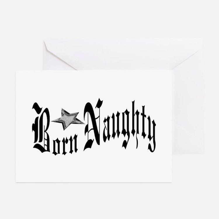 Born Naughty Greeting Cards (Pk of 10)
