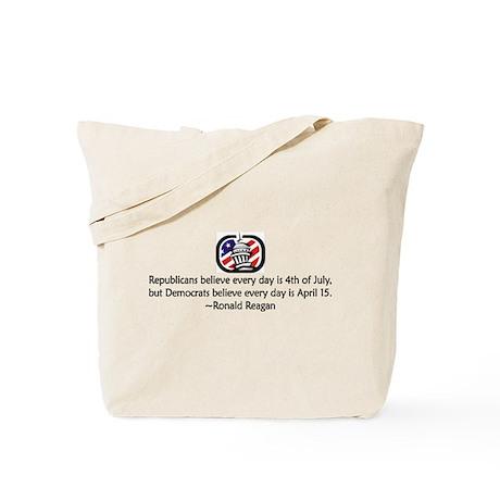 Republicans vs. Democrats Tote Bag