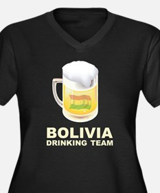 Bolivia Drinking Team Women's Plus Size V-Neck Dar